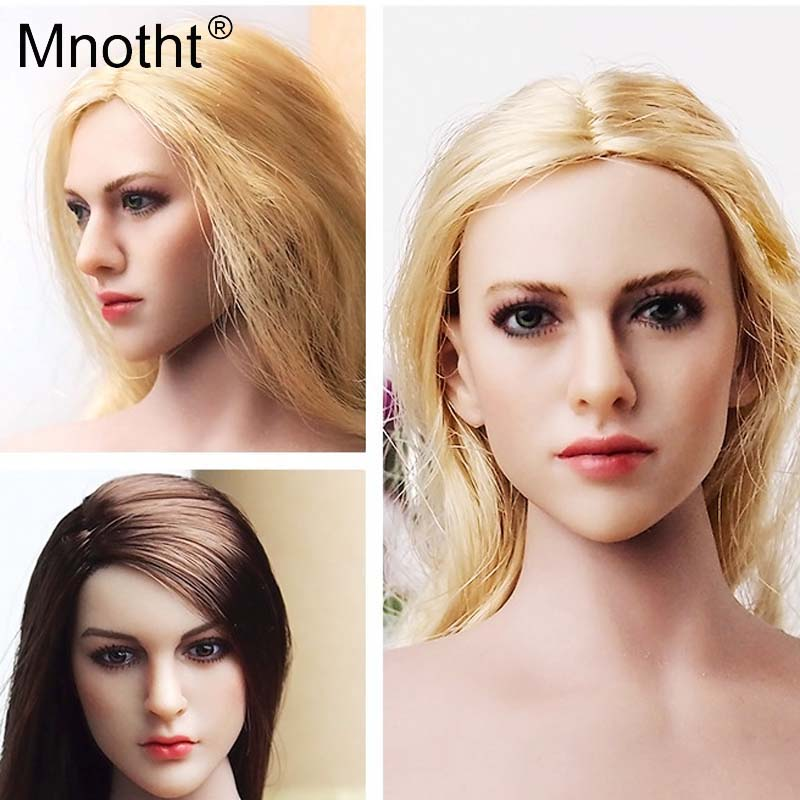 Mnotht Toys 1:6 Scale Golden Hair Beauty Female Head Sculpt KT004 Sexy PH Head Carving Model Fit For HT/VERYCOOL/TTL/Play toy m3 насос поверхностный aquario adp 355 центробежный с эжектором