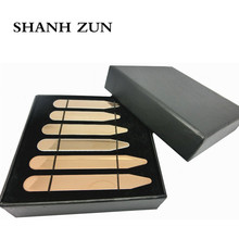 SHANH ZUN Stainless Steel Metal Collar Stays Shirt Bone Stiffeners Inserts Great Gifts For Business Man BF 3 Size 5 Colors shanh zun personalized customize engraved stainless steel metal collar bones shirt tabs stiffeners inserts golden gift for men