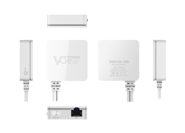 VAR11N-300 Vonets mini Wireless Bridge Router & & Repetidor wi-fi para Dreambox ou Projeto Câmera ip Monitor de Áudio