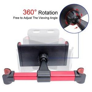 Image 4 - רכב אוניברסלי סוגר אוטומטי מושב אחורי משענת ראש הר מחזיק עבור טלפונים חכמים Ipad Rotatable מתכוונן שולחן מושב Bracket מעמדים