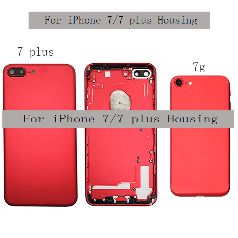 Back Cover For Iphone 7 Back Housing Battery Cover Rear Door Case Middle Chassis Frame+side Buttons Assembly For IPhone 7 PLUS