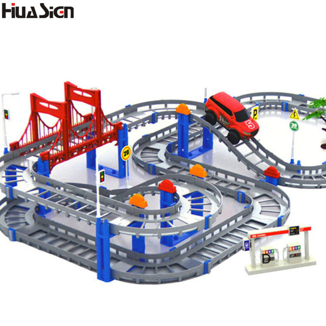 the best gift for kidsassembly electric race car thomas rail train track building bricks