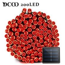 Dcoo Solar LED String Lights 200 LEDs 8 Modes 3 Colors 22meter Garden Lights Outdoor String Lighting Party Wedding Decoration