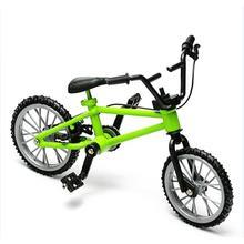 Mini Jari Bmx Mainan Mini Sepeda Mountain Bike Fan Bunga Mainan Koleksi Dekorasi Dengan Rem Hijau
