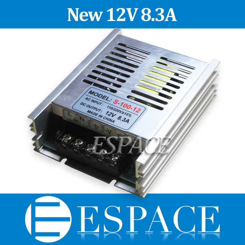 New Arrive12V 8.3A 100W Switching Power Supply Driver for LED Strip AC 100-240V Input to DC 12V free shipping new arrival 48v 2a 100w switching power supply driver for led strip ac 100 240v input to dc 48v