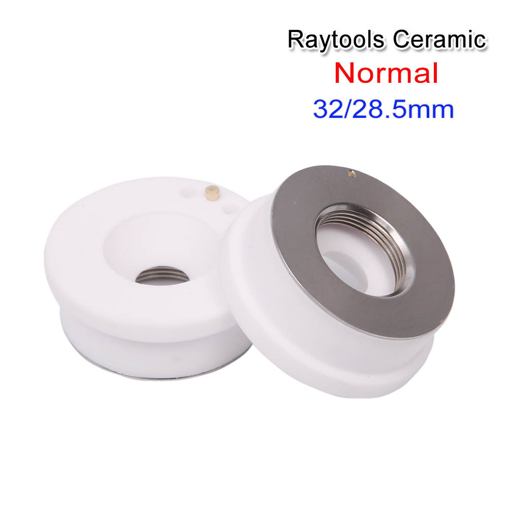 Laser Ceramic Dia.32mm/28.5mm Raytools empower For Bodor/TQ/GN fiber laser cutting machines nozzle holder agents wanted Welding Nozzles     - title=
