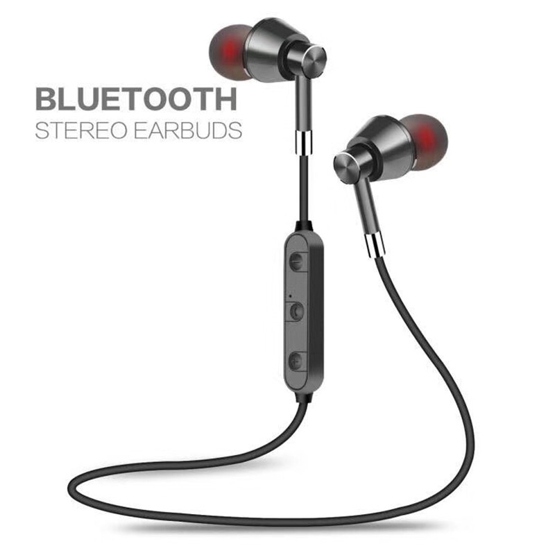 Wireless Bluetooth Earphones Sport Running Headphones Metal Magnetic Headset Stereo Bass Earbuds for Sony Xperia XZ XZs Premium