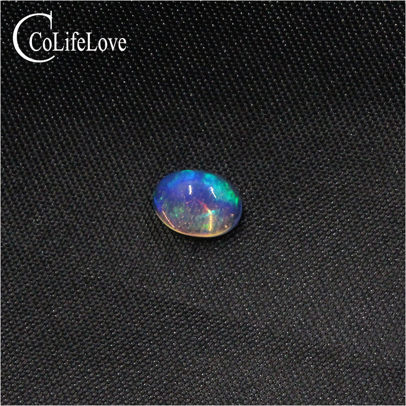 5mm*7mm Blue Brillance 100% Natural Opal Loose Gemstone Austrtalia Opal Gemstone