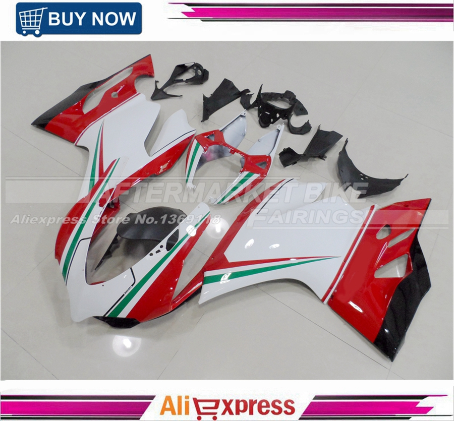 Japanese Advanced ABS Plastic Injection Molded Motorcycle Fairings For Ducati 1199 899 ITALIAN TRICOLOR Full Bodywork