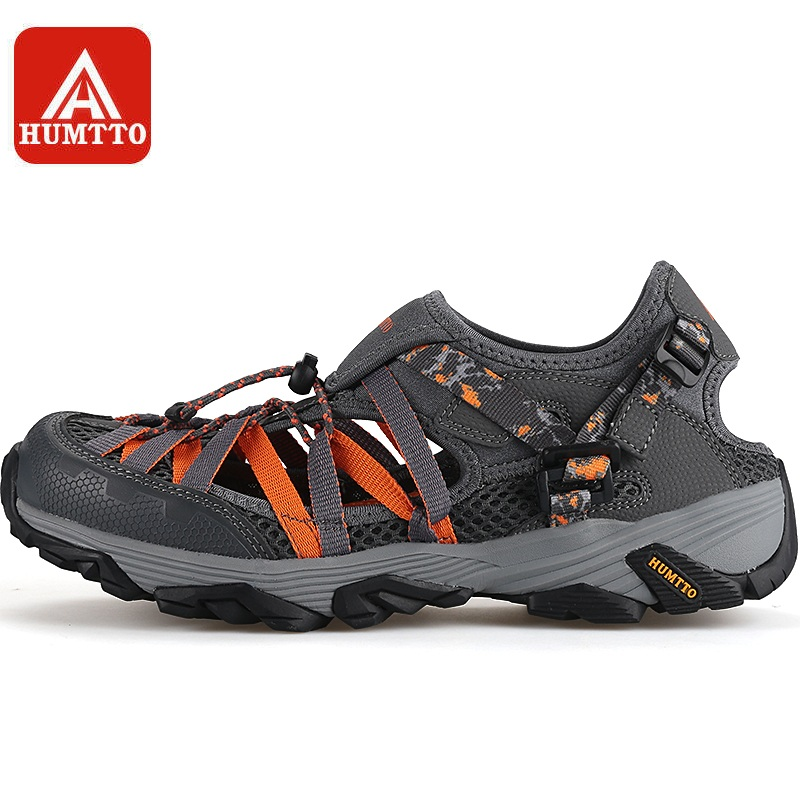 e60fc2845 HUMTTO Men s Upstream Shoe Aqua Shoes Breathable Summer Wading Fast-drying  Outdoor Beach Male Rubber Mesh Sneakers