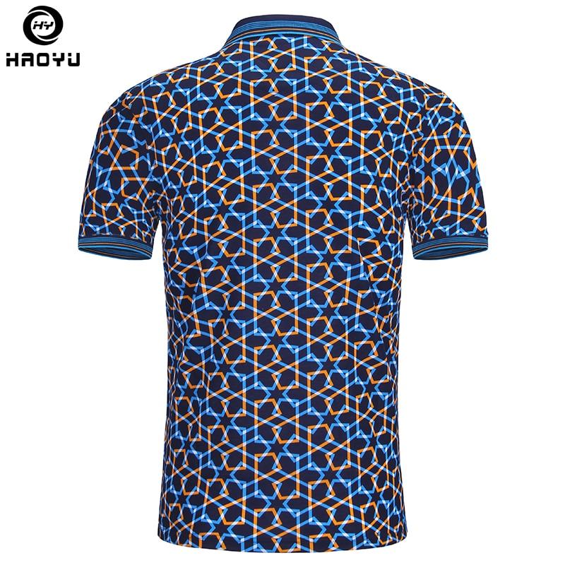 2018 moda de verano para hombre camisa de polo de manga corta patrón - Ropa de hombre - foto 2