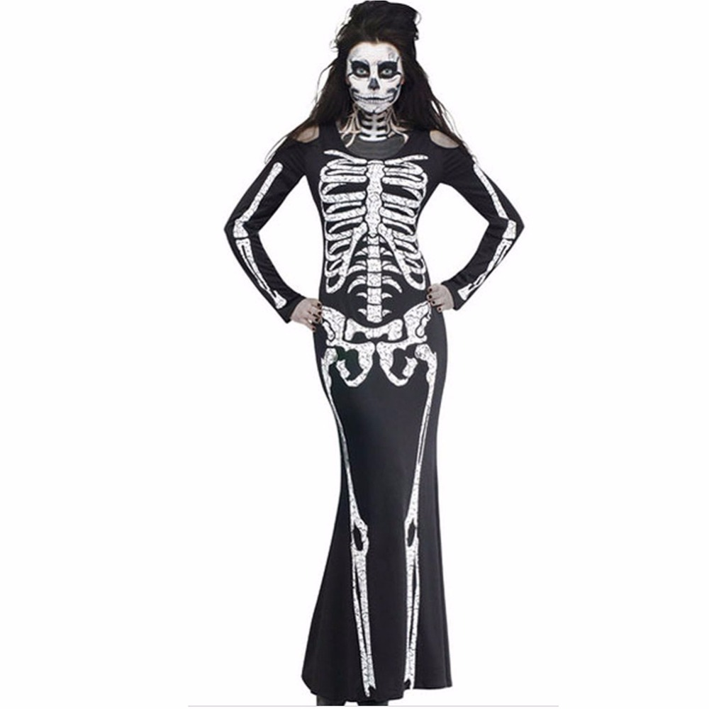 2018 halloween costumes for women new sexy dress with a skeleton pattern Halloween Costumes For Women Clubwear Sexy