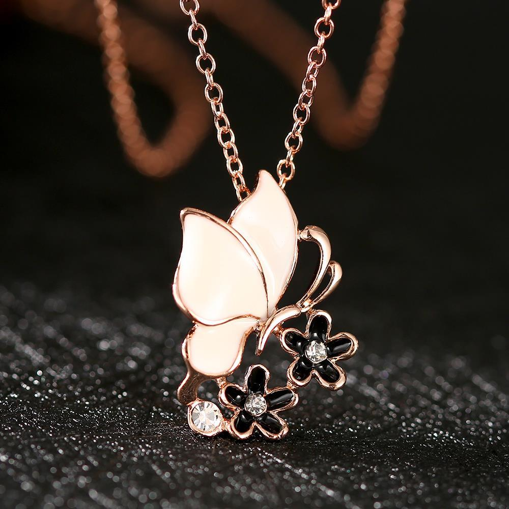 N696 WholesaleNickle Free Anti-allergic18K Real Gold Plated Fashion Butterfly Elegant Necklace