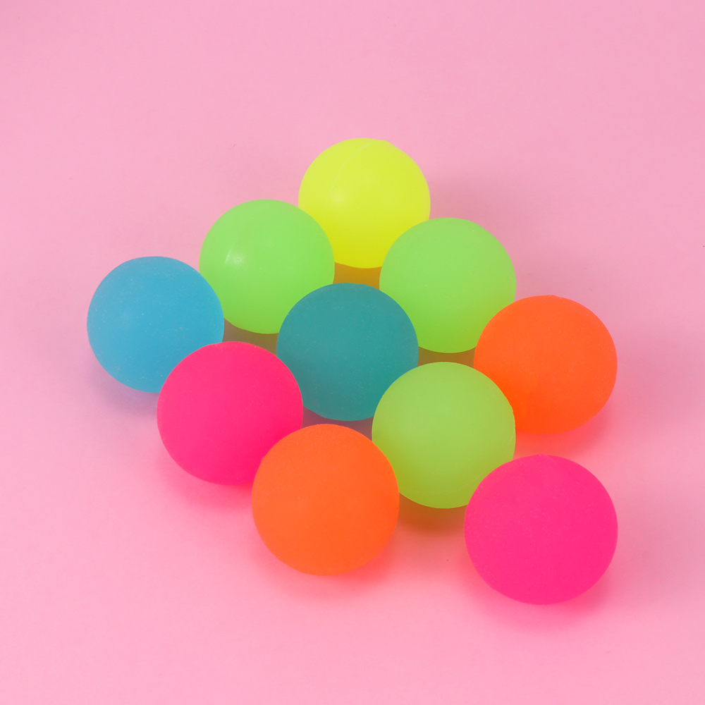 10Pcs/lot Luminous Moonlight High Bounce Toy Balls Kids Gift Party Favor Decoration Kids Glow In The Dark Bouncing Ball