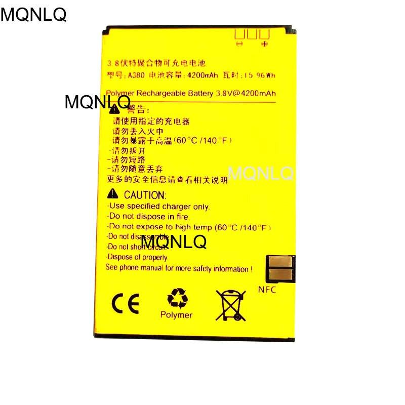 Batterie pour RUNBO X3 X5 X5-C Q5s Q5 X6 batterie de téléphone portable 4200MA A380 batterie avec NFC envoyée pour remplacer MQNLQ