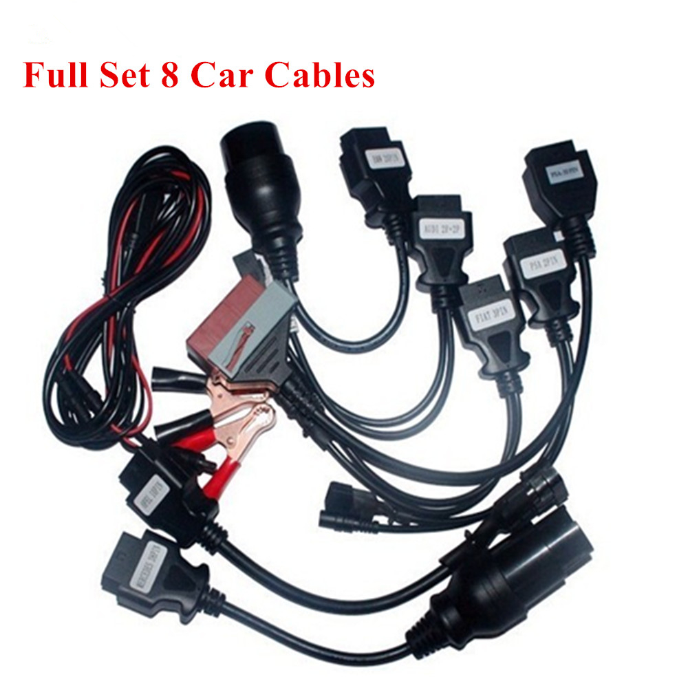 Hot sale 8pcs full set car cable for delphis <font><b>VD</b></font> <font><b>DS150E</b></font> CDP Multidiag OBD2 OBDII Cars Diagnostic Interface for diagnostic tool image