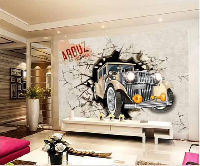 25 Creatieve Kinderkamers : Foto behang d stereo diy creatieve decoratieve slaapkamer bed