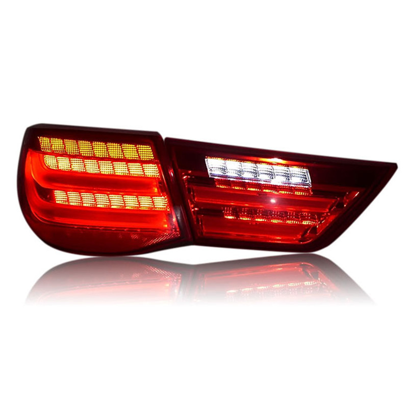 Ownsun High Quality LED DRLs+Brake Lights+Reversing Lights+Turn Singnal Car Rear Taillights Tail Lamps For Toyota Reiz 2010-212 automotive halogen lamps tail lights rogue reversing lights brake lights beep sound the alarm lamp