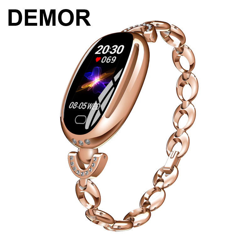 DEMOR KB68 Women Fitness Bracelet Activity Tracker Luxury Jewelry Smart Band Heart Rate Monitor Blood Pressure