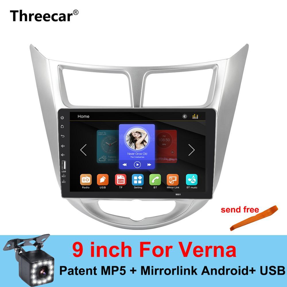 Mirrorlink Android Bluetooth Car Multimedia MP5 Player 2DIN For Hyundai Verna Solaris 2010-2015 Car Radio No AndroidMirrorlink Android Bluetooth Car Multimedia MP5 Player 2DIN For Hyundai Verna Solaris 2010-2015 Car Radio No Android