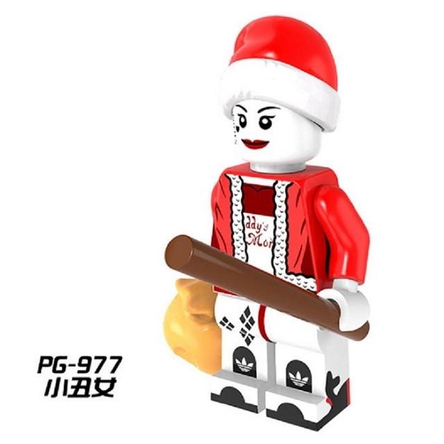 50pcs pg977 christmas harley quinn advent calendar deadcool diy assemble building blocks collection for children model