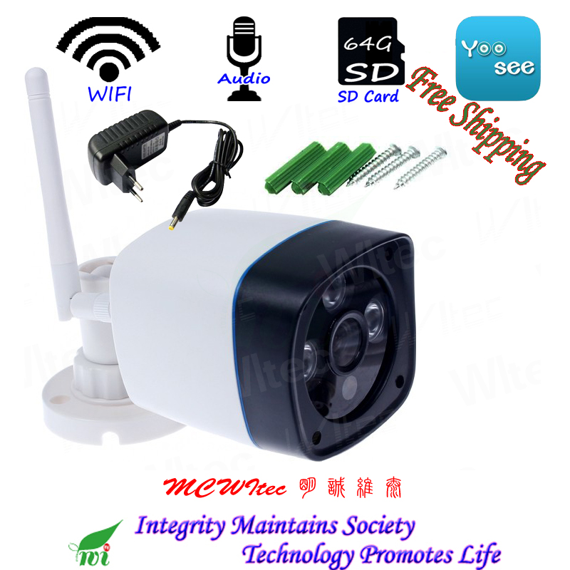 SD Card WIFI Camera 1080P 960P 720P Security Bullet Waterproof Reset P2P IP Cam MIC Audio IR Array Leds Network CCTV Cam Alarm network ip camera 1 0mp 720p cmos poe module cctv surveillance bullet cam outdoor waterproof 2 array ir lamp for security camera