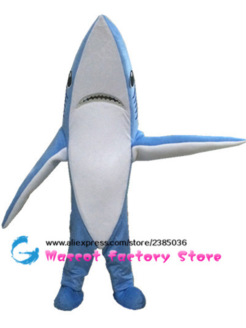blue adult shark mascot animal cosplay suit mascot unisex cute jumpsuits halloween costumes for women mascote free shipping - Halloween Costume Shark