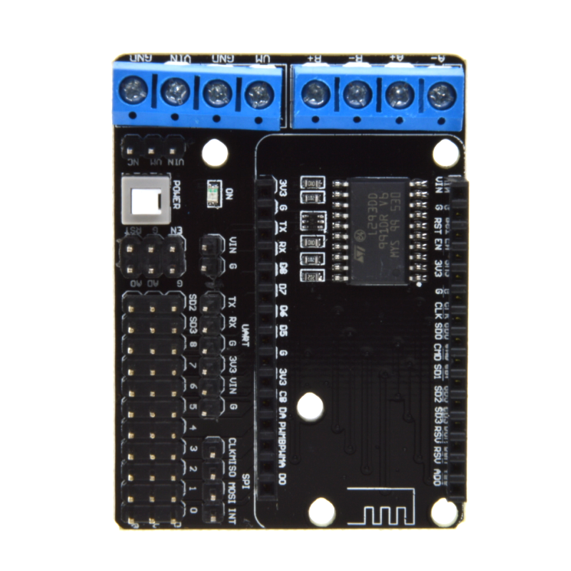 free shipping nodemcu motor shield board l293d for esp 12e. Black Bedroom Furniture Sets. Home Design Ideas