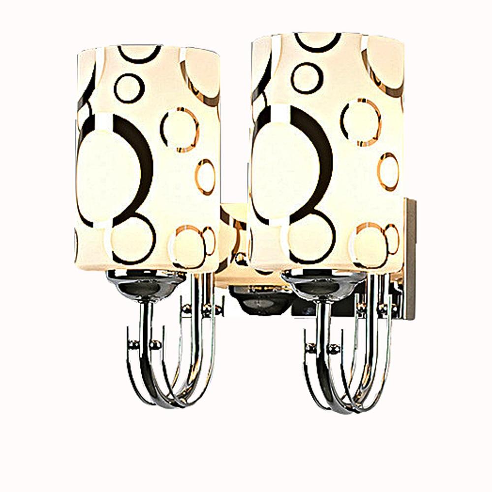 ФОТО Modern simple glass single head double head led wall lamp bedroom bedside sconce aisle lamp hotel room fashion wall lights e27
