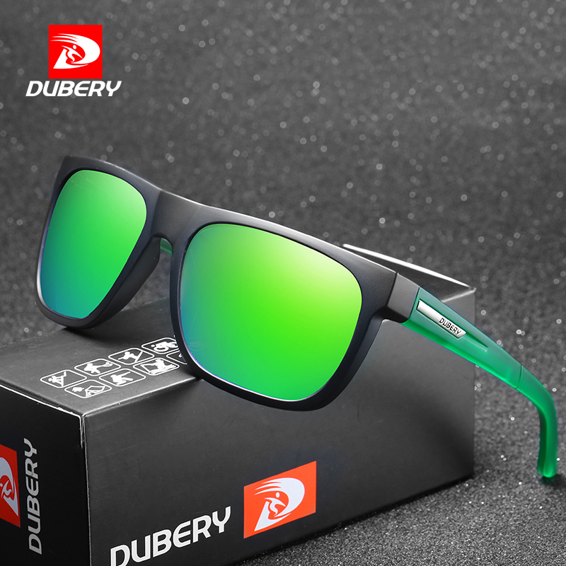 DUBERY Men Brand Designer Sunglasses Polarized Cycling Sport Driving Sun Glasses