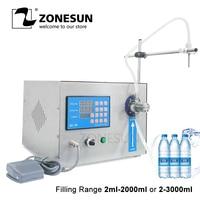 ZONESUN Magnetic Pump Beverage Perfume Mineral Water Juice Essential Oil Electric Digital Control Liquid Bottle Filling Machine