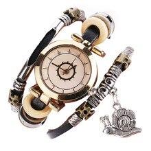 2017 NEW  Luxury Brand Vintage Cow Leather Bracelet Watch Women Wristwatch Ladies Dress Quartz Watchs Drop Shipping #0310