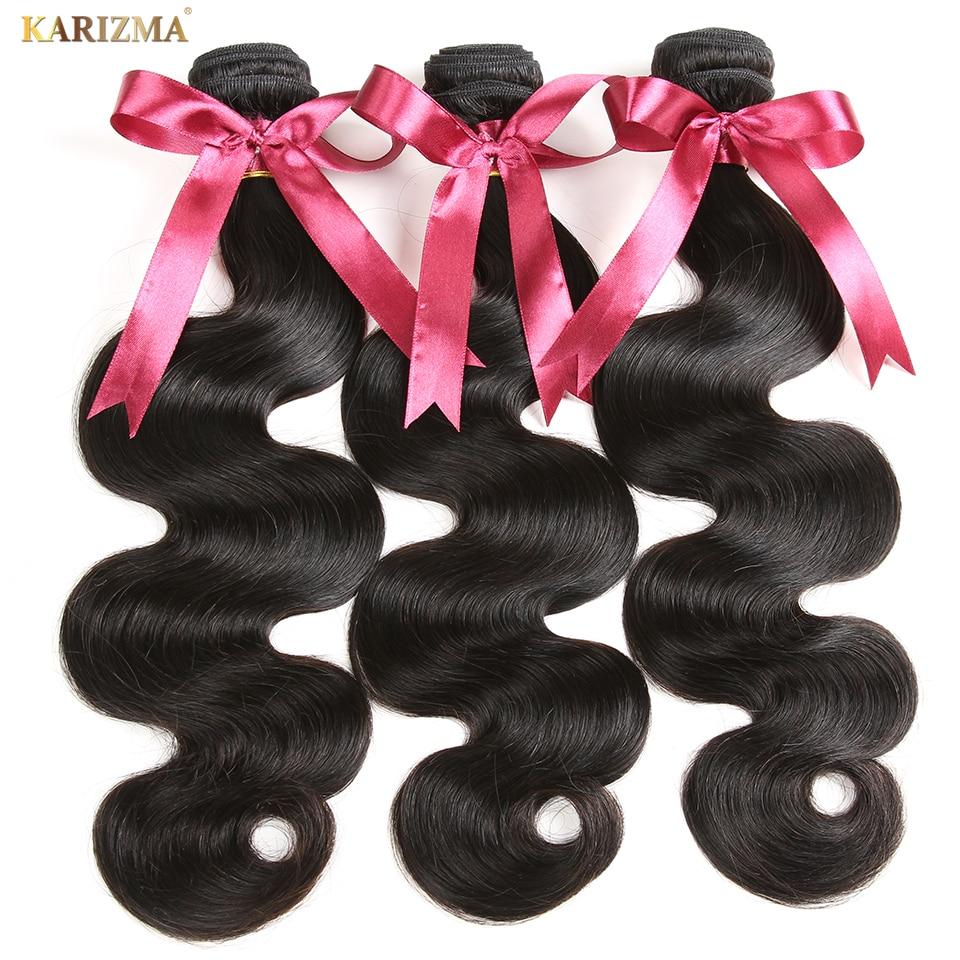 Karizma Peruvian Body Wave 3 Bundles Lot 100 Human Hair Bundles Hair Weave Natural Color Can