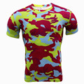 Camouflage T-Shirt Military Tee Shirts Dry Fit Men Jog Tops Quick Dry Summer 2016 Mens Workout Clothing