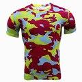 Camuflaje Camiseta Militar Camisetas Dry Fit Hombres Correr Tops Verano 2016 Para Hombre de la Ropa de Entrenamiento de Secado rápido