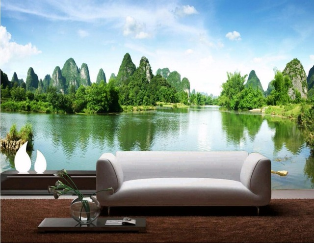 3d Room Wallpaper Custom Mural Guilin Landscape Natural Scenery Painting Home Improvement Wall Murals
