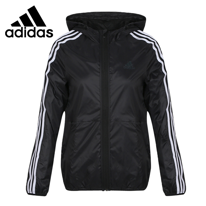 Original New Arrival  Adidas FEM WB 3S Womens Woven Jacket Hooded SportswearOriginal New Arrival  Adidas FEM WB 3S Womens Woven Jacket Hooded Sportswear