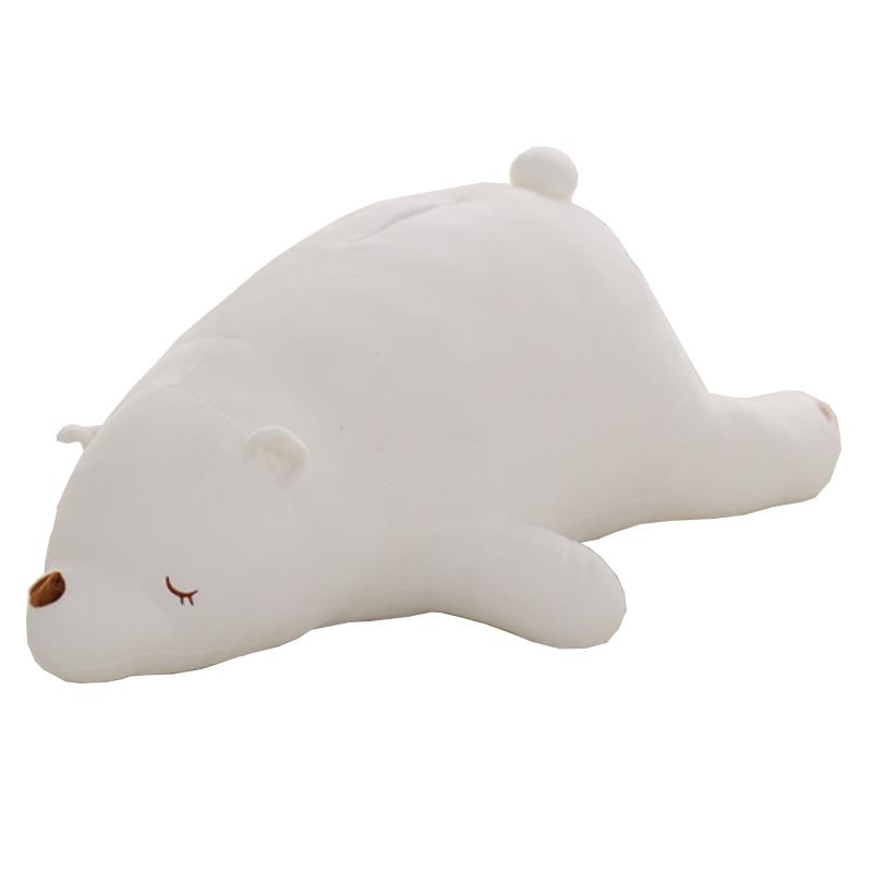 Cute cartoon induction light-shaking Polar bear pillow, large polar bear plush toy, Valentine's Day birthday gift