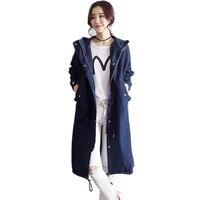 2019 Новая женская джинсовая ветровка Весенняя свободная тонкая куртка средней длины с длинными рукавами Осенняя высококачественная повсед