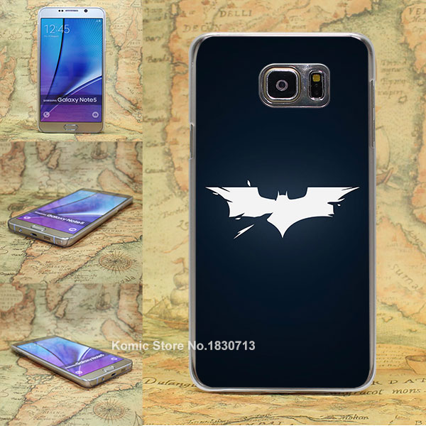 batman logo <font><b>dark</b></font> <font><b>shattered</b></font> Pattern transparent clear hard Cover Case for Samsung galaxy note 2 3 4 5 s4 mini s6 edge+