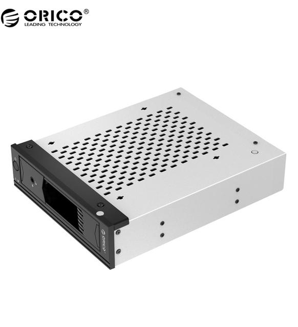 "ORICO Herramienta 1109SS-V1 Envío Completo de Acero Inoxidable de 5.25 pulgadas a 3.5 pulgadas SATA Disco Duro Rack Móvil para 5.25 ""CD-ROM Slot Negro"