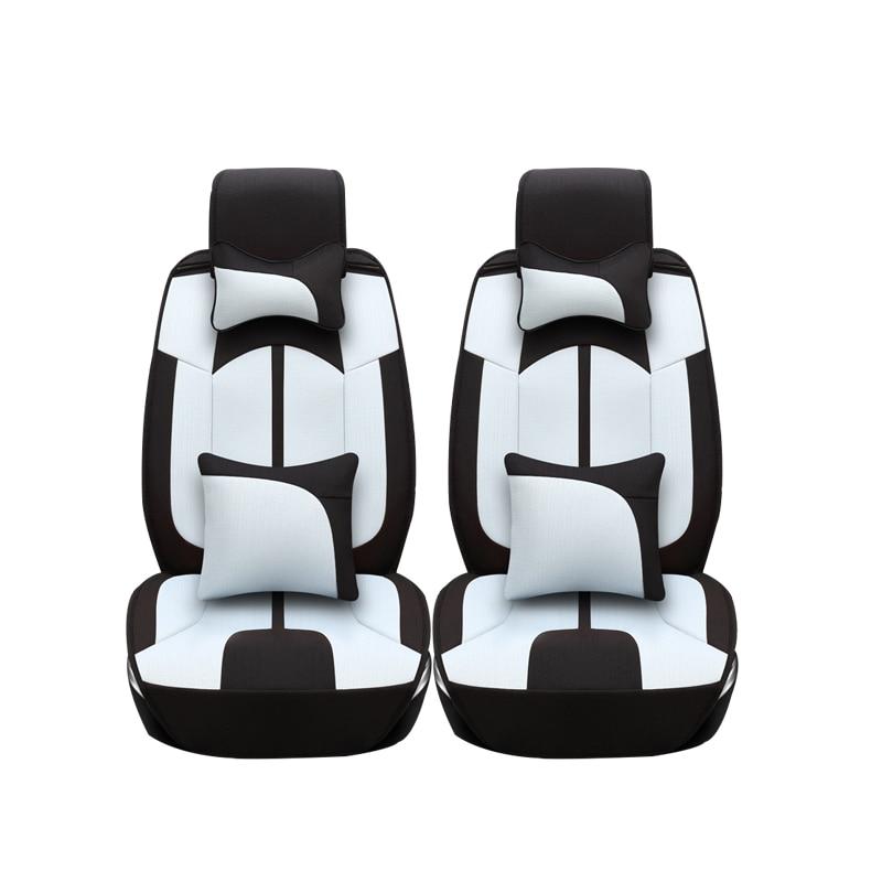 Linen car seat covers For Fiat Viaggio 2015 500 Uno Palio Bravo Siena 126P Idea Sedici Panda car accessories car styling
