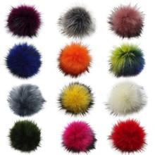 Fashion Cute DIY Knitting Hats Accessires-Faux Fake Fur high quality Pom Pom Ball with Elastic Band