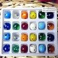 24 шт. пользовательские многоцветный рука выдувное стекло мяч Фигурин Фея Сад шарм декоративные стеклянный шар орнамент дети игра игрушка подарки