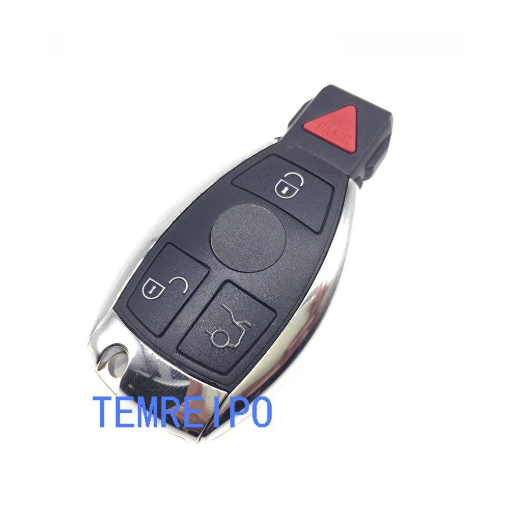 4 boutons À Distance Smart Voiture Remplacement Shell Key Case pour Mercedes Benz E550 ML350 SL65 E63 G55 AMG R350 S600 c300 avec logo