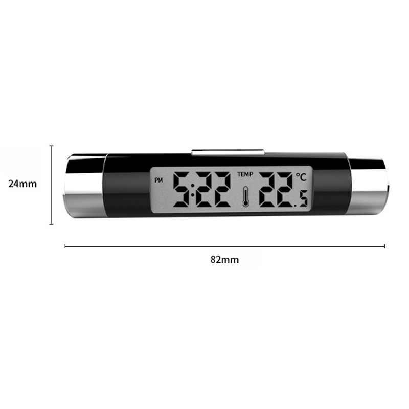 2in1 سيارة الرقمية LCD درجة الحرارة ميزان الحرارة ساعة لأوبل زافيرا Ab فوكسهول زافيرا كورسا C كامبو D فوكسهول كورسا 3 فان