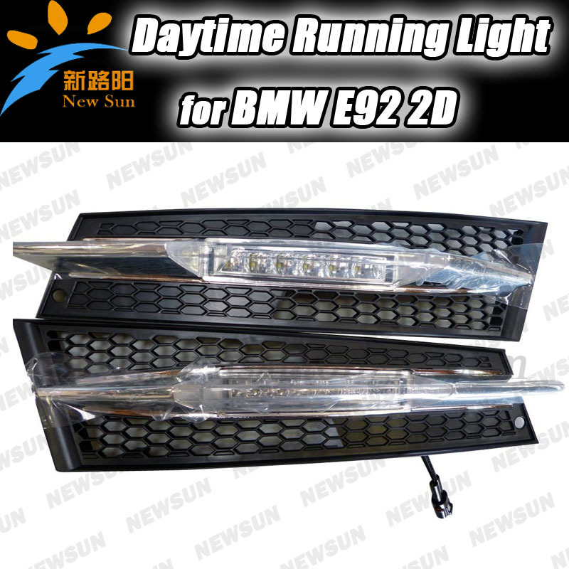 12W High Power LED DRL Daytime Running Fog Lights for BMW E92 2D Waterproof LED DRL Car Driving Fog light Lamp 12V White flexible bandable straight line cob drl daytime running lights dc12v 16w high power white e4 waterproof car fog lights