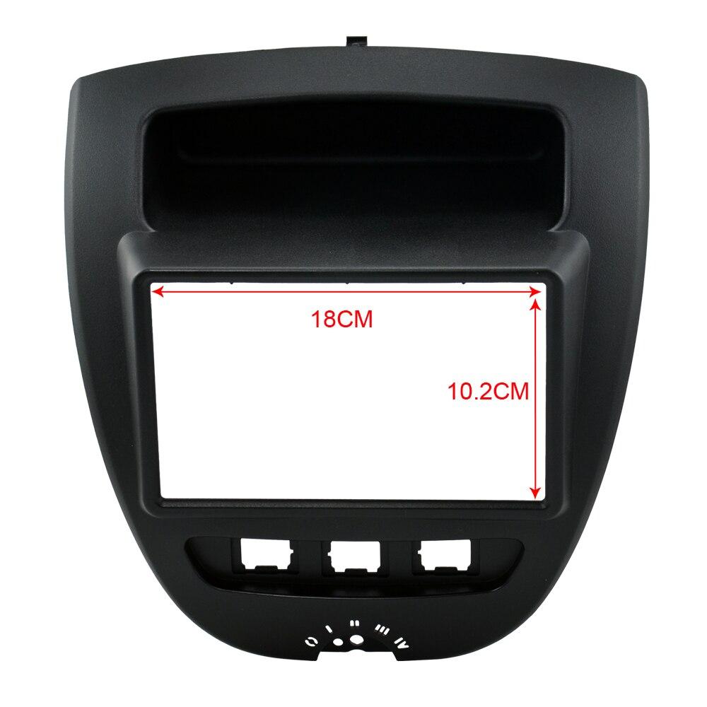 2 Din Voiture Dash Frame Kit/Voiture Fascias/Support de fixation Pour Toyota Aygo/Pour Peugeot 107 2005 2006 2007 2008 2009 2010 2011 2012 2013