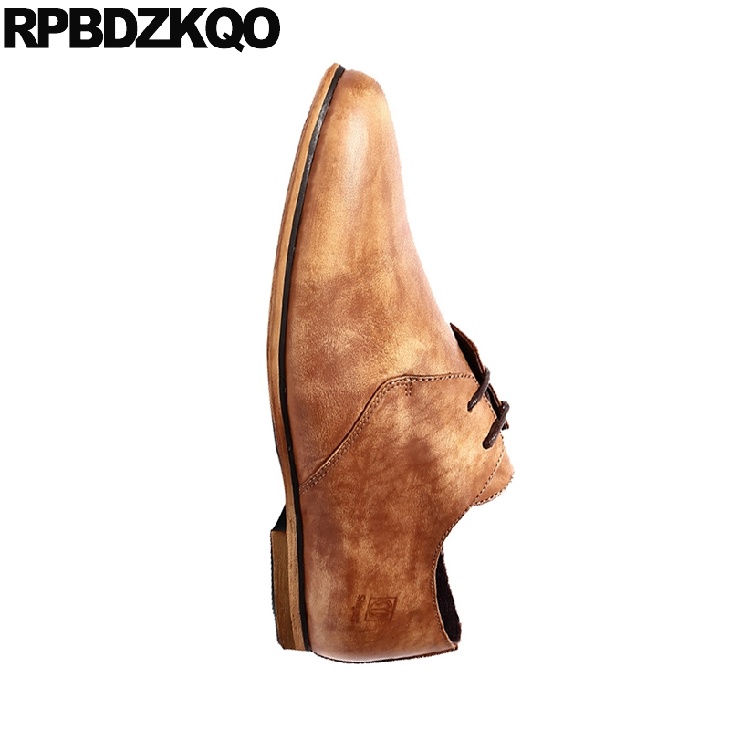Sapatos Mão Luxo Homens Oxfords Yellow Europeia De À Formais Estilo Retro Brown Qualidade Couro Britânico Genuíno Vestido Preto brown Italianos Alta Itália Feito 66wSxqrHO