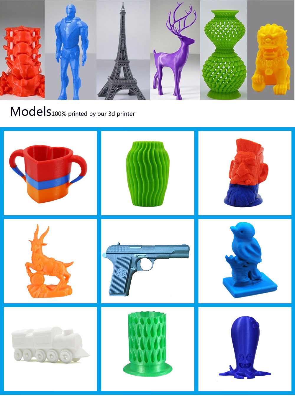 models by our 3D printer